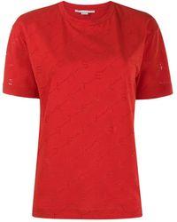 Stella McCartney モノグラム Tシャツ - レッド