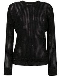 Philipp Plein - Sheer Stripe Sweatshirt - Lyst