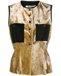 Uma Wang - Velvet Buttoned Waistcoat - Lyst
