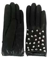 Manokhi Handschuhe mit Nieten - Schwarz