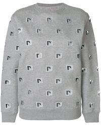 Paco Rabanne ロゴ スウェットシャツ - グレー