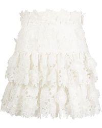 Zimmermann Lovestruck Mini Skirt - White