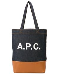 A.P.C. - Axelle Bag In Caramel Felt And Leather - Lyst