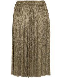 Étoile Isabel Marant Beatrice Lamé Plissé Skirt - Metallic