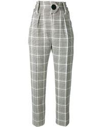Petar Petrov Checked Tailored Trousers - Zwart