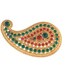 Oscar de la Renta Taj Small Brooch - Metallic