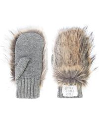 Stella McCartney - Faux Fur Panelled Mittens - Lyst