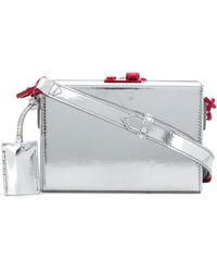 CALVIN KLEIN 205W39NYC Mini Box Crossbody Bag - Metallic