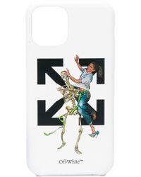Off-White c/o Virgil Abloh Чехол Pascal Skeleton Для Iphone 11 - Белый