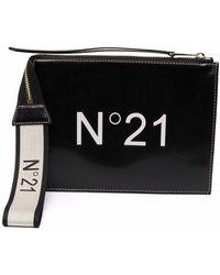 N°21 ロゴ クラッチバッグ - ブラック