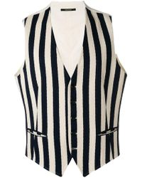 Tagliatore Striped Waistcoat - Blue