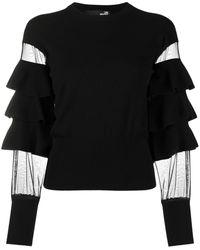 Love Moschino Ruffle-knit Top - Black
