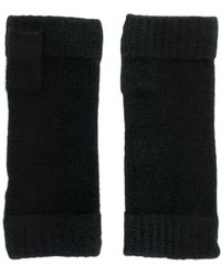 N.Peal Cashmere Finger-less Knitted Gloves - Черный