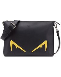 Fendi Bag Bugs Messenger Bag - Black