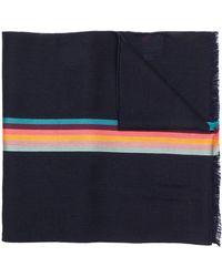 Paul Smith - Artist Stripe Band Herringbone Scarf - Lyst