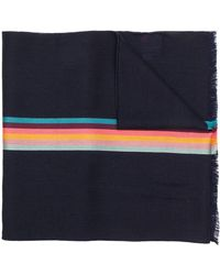 Paul Smith Artist Stripe ストール - ブルー