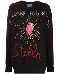Stella Jean Heart Print Sweater - Black