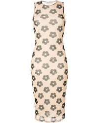 Sandy Liang Mama Floral Dress - Brown
