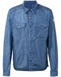 Moncler - Denim Effect Shirt Jacket - Lyst