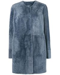DROMe - Press Stud Fur Coat - Lyst