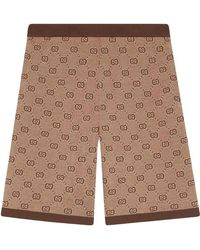 Gucci - Jacquard-Shorts mit GG-Muster - Lyst