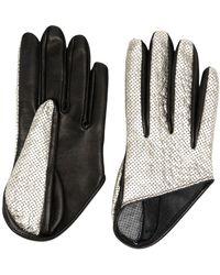 Manokhi Двухцветные Перчатки - Черный