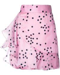 Bambah Polka Ruffle Skirt - Pink