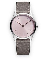 Uniform Wares C33 Tweehandig Horloge - Metallic