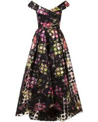 Marchesa notte - Off-the-shoulder Floral Dress - Lyst
