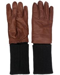 AMI Leather Gloves - Brown