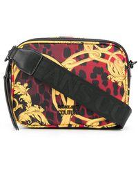 Versace Jeans Baroque Leopard-print Crossbody Bag - Red