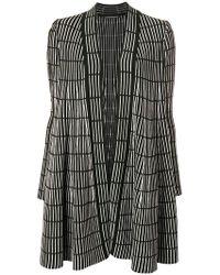 Antonino Valenti - Striped Print Cardigan-coat - Lyst
