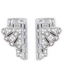 V Jewellery - 'deco Fan' Earrings - Lyst