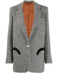 Blazé Milano Striped Print Blazer - マルチカラー