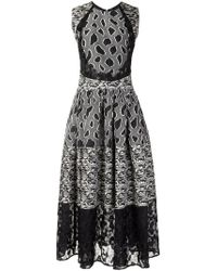 Sophie Theallet - Flared Mix Pattern Dress - Lyst