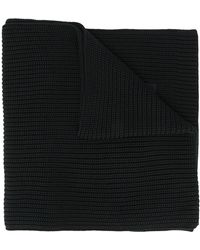 Y-3 Unisex Cable Knit Scarf - Black
