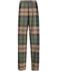 Vivienne Westwood チェック テーラードパンツ - グリーン