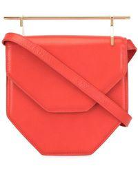 M2malletier Mini sac porté épaule à rabat - Rouge