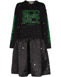 Christopher Kane Robe mi-longue à étoiles - Noir