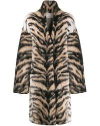 Laneus Кардиган-пальто С Тигровым Принтом - Многоцветный