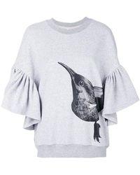 Ioana Ciolacu - Ruffle Bird Detail Sweatshirt - Lyst