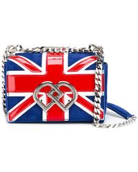 DSquared² Mini Union Jack Dd Crossbody Bag - Blue
