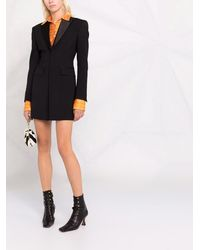 DSquared² シングルブレスト ジャケットドレス - ブラック
