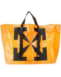 Off-White c/o Virgil Abloh Arrows Print Commercial Tote - Orange