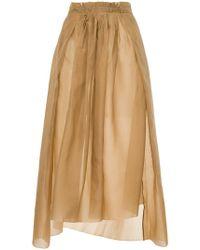 Uma Wang - Gathered Front Skirt - Lyst
