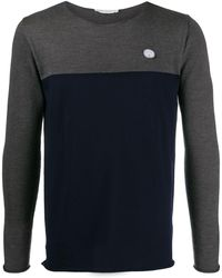 Societe Anonyme Patch Detail Two-tone Jumper - Blue