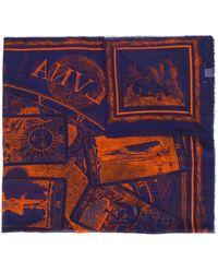 Faliero Sarti Embroidered Oversized Scarf - Blue