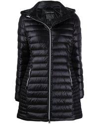 Calvin Klein Abrigo acolchado con cremallera - Negro