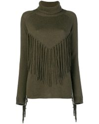 P.A.R.O.S.H. - Fringed Roll Neck Sweater - Lyst