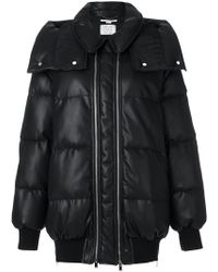 Stella McCartney - Double Zip Padded Coat - Lyst